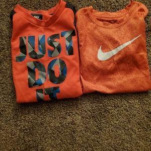 2 nike dri fit shirts